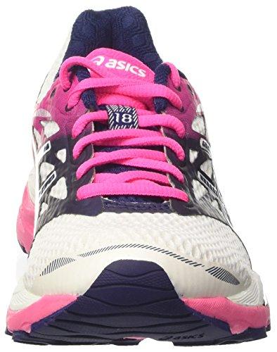 Asics Damen Gel-Cumulus 18 Laufschuhe Elfenbein (White/indigo Blue/hot Pink)
