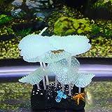 sourcingmap® Giallo mare Anemone effetto incandescente corallo artificiale impianto acquario