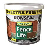 Ronseal RSLFLMO4LAV 4 Litre One Coat Fencelife Paint - Medium Oak