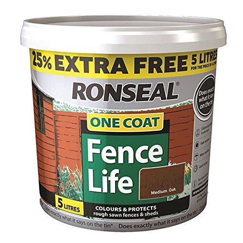 ronseal-rslflmo4lav-4-litre-one-coat-fencelife-paint-medium-oak