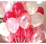 #7: GrandShop 50285 Metallic HD Toy Balloons, Red/White/Pink (Pack of 50)