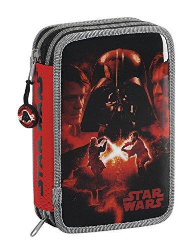 Star Wars – Plumier Doble, 34 Piezas, 14 x 20 cm (SAFTA 411401054)