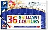 Staedtler ergosoft aquarell Buntstifte (wasservermalbar, erhöhte Bruchfestigkeit, dreikant, Set mit 36 brillanten Farben, 156 M36)