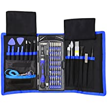 Juego de destornilladores de precisión, 80 en 1, magnéticos, con 42puntas, kit de herramientas de reparación de electrónica profesional con bolsa, para reparación de iPhone, teléfono móvil, iPad, PC, Macbook y otros dispositivos
