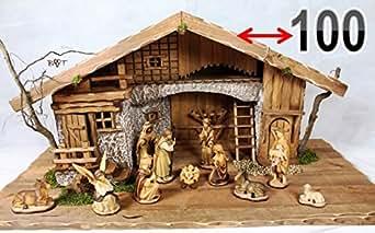 Grande Cr Che Cr Che De No L 100 Cm Sans Design Massif Avec Figurines Pour Cr Che Et Peints La