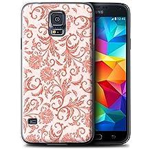 Carcasa/Funda STUFF4 dura para el Samsung Galaxy S5 Neo/G903 / serie: Estampado de flores - Flores rojas