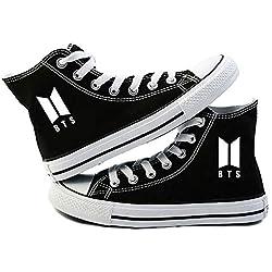 AILIENT Unisex BTS Zapatos Altas Classic Canvas Zapatillas Adulto Zapatillas Deportivas de Malla Ligera para Mujeres y Hombres Alpargatas Zapatillas Transpirables