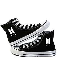 AILIENT Unisex BTS Zapatos Altas Classic Canvas Zapatillas Adulto Zapatillas Deportivas de Malla Ligera para Mujeres