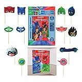amscan Kit de décoration Murale avec Accessoires pour Masque PJ 2 Pack