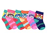 #2: Krystle Unisex Kids Cotton Socks (Pack Of 6)