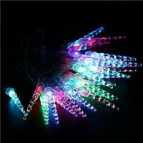 4M 20LED de pequeña carámbano de agua Cadena de Luces Luminosa Exterior