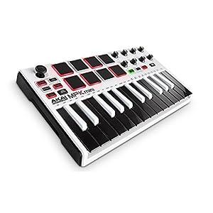 Akai Professional MPK Mini MKII Tastiera Controller MIDI USB, 8 PAD, Potenziometri e Joystick e MPC Essential, Wobble e Hybrid 3