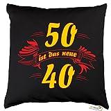 getshirts - RAHMENLOS® Geschenke - Kissen - Fun - 50 ist das neue 40 - Dunkelgrau uni