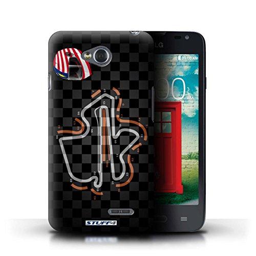 Kobalt® Imprimé Etui / Coque pour LG L65/D280 / USA/Austin conception / Série 2014 F1 Piste Malaisie/KualaLumpur