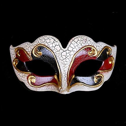 chenyu Römische griechische venezianische Maske, Maskenball, Halloween, Kostüm, Ball, Party-Dekoration, für Herren und Damen rot