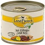 LandFleisch | Pur Geflügel & Reis extra mager | 12 x 195 g