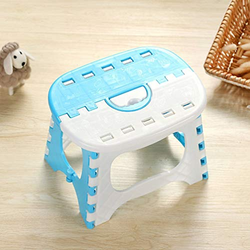 Wenwenzui Folding Step Stool Lightweight Step Stool Mini Cartoon Safe Stool for Kids Blue (Rv Storage Box)