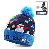 TAGVO Sombrero LED Light Up Sombrero Beanie Gorro, 6 Sombrero Colorido LED Christmas Christmas Hat, Sombrero de Sombrero de Nieve Invernal Sombrero Feo Sombrero Beanie Cap (Style-03)
