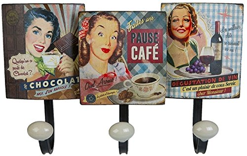Vintage Retro Kleiderhaken Blechschild Wanddeko Nostalgie Garderobenhaken Metallschild
