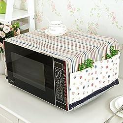 Cubierta del horno microondas cubierta a prueba de polvo microondas tapa cubre toallas cubierta del horno cúpula de tela-B 100x35cm(39x14inch)