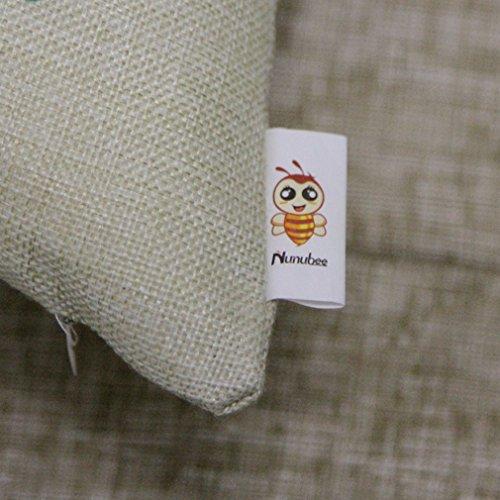 Nunubee Baumwolle Leinen Platz Dekorative Akzente Setzen Fall Sofa Kissenbezug Blatt -