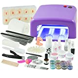 Nails Factory UV-Gel XXXL Se - Set de pedicura y manicura, color morado