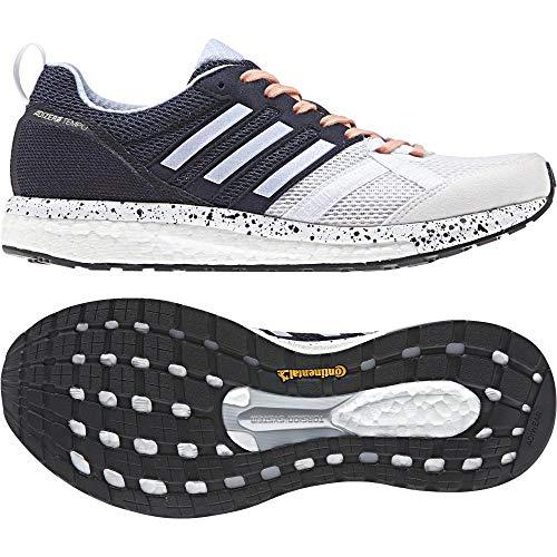 adidas Damen Adizero Tempo 9 Traillaufschuhe, Weiß (Ftwbla/Aeroaz/Negbas 000), 41 1/3 EU