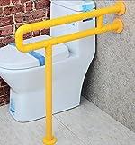 NAERFB Badezimmer Armlehne Armlehne Nylon mit Beinen barrierefreie Badezimmer WC Badezimmer Waschbecken Handlauf alte Menschen behinderte Menschen Armlehne (Farbe: Gelb, Größe: 60 cm)