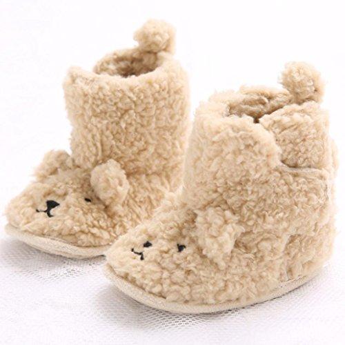 Hunpta Babyschuhe Mädchen Jungen Lauflernschuhe Kleinkind Baby Junge Mädchen weichen Sohle Winterstiefel Krippe Schuhe Stiefel (12)