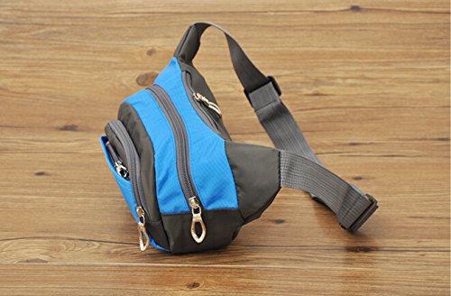 Travel Fanny Pack Taille Pack Tasche/Handys und Schlüssel Ring Blau - blau