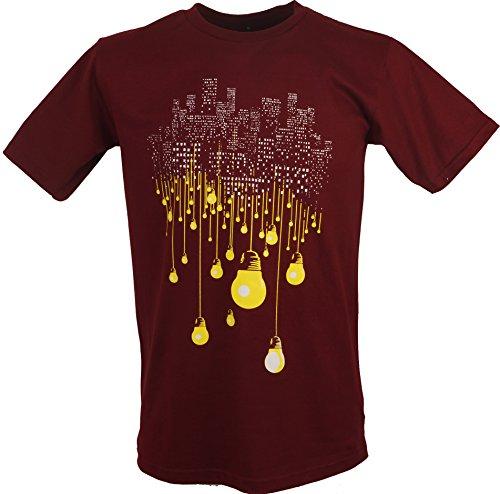 Fun T-Shirt `Großstadt` / Spaß T-Shirts Rot