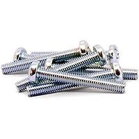 Tornillos cilíndricos M6, Pozidriv, de acero, 6 x 45 mm, pack de 20 unidades