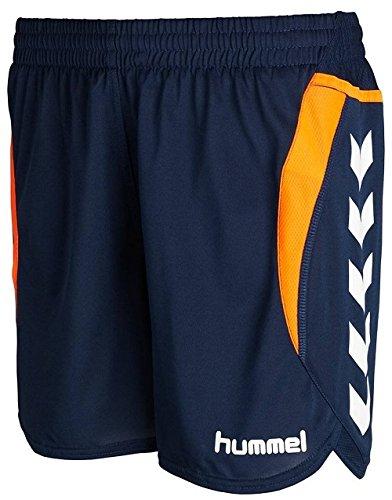 Hummel Damen Shorts Team Player Poly, dark denim, XS, 10-935-7642