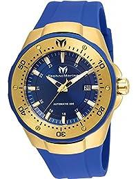 TECHNOMARINE MEN'S MANTA 48MM BLUE SILICONE BAND AUTOMATIC WATCH TM-215085