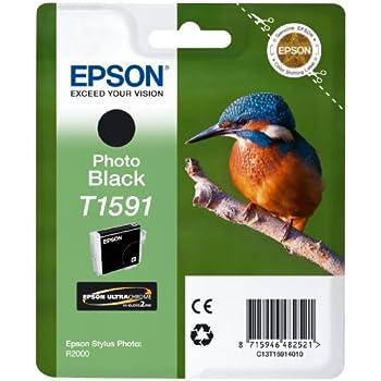 Epson T1591 Cartouche d'encre d'origine pour Stylus Photo R2000 Noir
