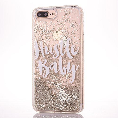 iPhone 6/6S 4.7 Hülle, Voguecase Silikon Schutzhülle / Case / Cover / Hülle / TPU Gel Skin für Apple iPhone 6/6S 4.7(Perlen Treibsand-born to shine-Pink) + Gratis Universal Eingabestift Perlen Treibsand-Hustle Baby-Gold