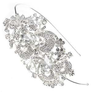 Sweeping Treasure Crystal Bridal Hair Band Headband Tiara