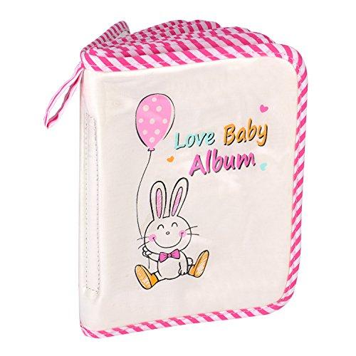 eBoot Álbum de Fotos de Bebé Álbum de Love Baby Álbum de Mi Primer Foto con Conejo Rosa para los Momentos Memorables de los Niños y Niñas