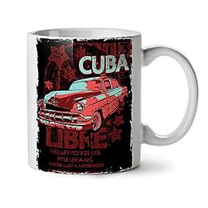 Wellcoda Cuba Libre Révolution Blanc Café au thé Céramique Tasse 11 oz