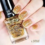 Nagellack, FEITONG Gel Nagel Manicure 6ml Diamant Glitzer Nagellack Sequins Gel Nail (6ml, H)