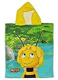 Badeponcho Biene Maja 50 cm * 115 cm - 4 bis 8 Jahre Poncho - Handtuch Strandtuch Baumwolle - Kinder Honigbiene Tier Tiere