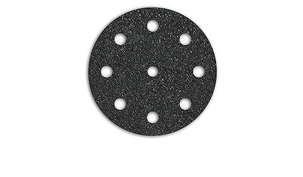 50 MENZER Klett-Schleifscheiben Exzenterschleifer 125 mm 9-Loch K40-800