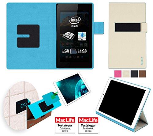 reboon Allview WI7 Android Hülle Tasche Cover Case Bumper | Beige | Testsieger