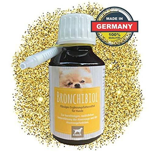 EMMA Hustensaft für Hunde I Bronchial Tropfen mit Thymian I Bronchial-kräuter I Kräuter für die Atemwege | Husten beim Hund I 100ml