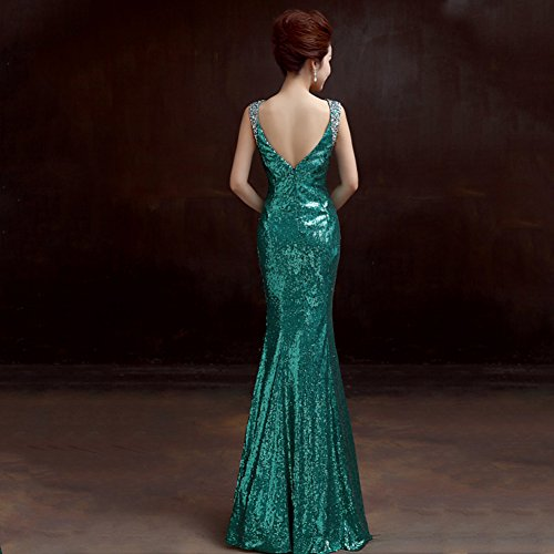 Drasawee Damen Cocktail Kleid Grün - Grün