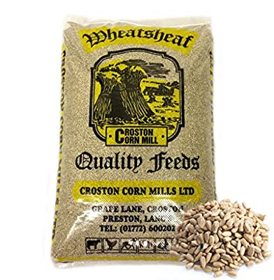 Croston Corn Mill 29kg 'Wheatsheaf' Sunflower Hearts (Bakery Grade) Wild Bird Food (Multiple Plain bags) by Croston Corn Mill