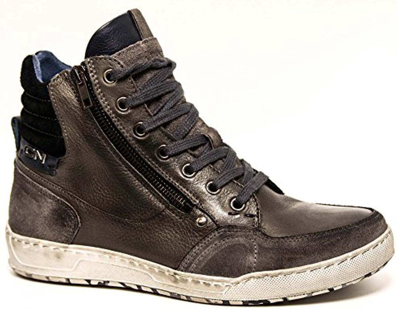 scarpe da ginnastica Alte in Pelle Cafè nero Art.QL102       Elegante e divertente    Scolaro/Ragazze Scarpa  46853c