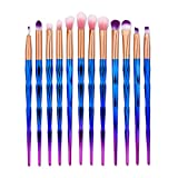 NEEDOON Makeup Pinsel 12 Stück Lidschatten Eyeliner Foundation Kosmetik Synthetische Premium Schmink Pinsel Set Geschenk