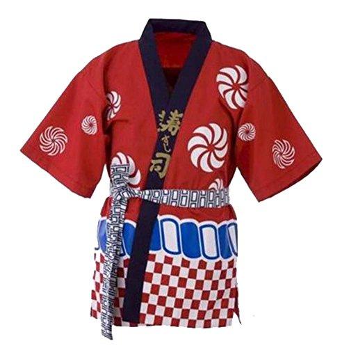 Unisex-Workwear-Kleid-japanischer Chef-Mantel-Sushi-Koch Jacket Kitchen Uniform, ()