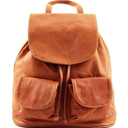 Tuscany Leather - Seoul - Sac à dos en cuir Petit modèle - Cognac